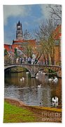 Spring In Bruges Beach Towel