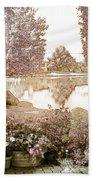 Spring Magical Fairyland Lake Beach Towel