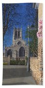 Spring Morning Brides Cottage Tickhill Yorkshire Beach Towel