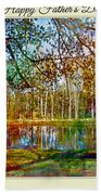Spring Pond Photoart Father's Day Beach Towel