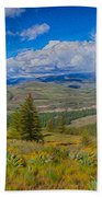 Spring Rain Across A Valley Beach Towel