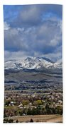 Spring Snow On Squaw Butte Beach Towel