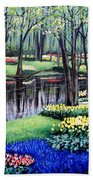 Spring Spendor Tulip Garden Beach Sheet