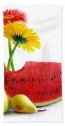 Spring Watermelon Beach Towel by Carlos Caetano