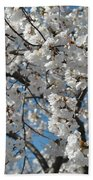 Spring White Beach Towel