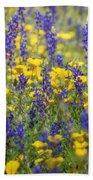 Spring Wildflower Bouquet  Beach Towel