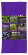 Spring Woodland Picture Window Beach Towel