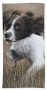 Springer Spaniel Painting Beach Towel