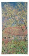 Springtime At Giverny Beach Towel by Claude Monet