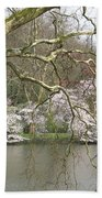 Springtime At The Pond Beach Towel