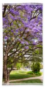 Springtime Jacaranda Tree Beach Towel