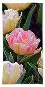 Springtime Sprites -- Parrot Tulips Beach Towel