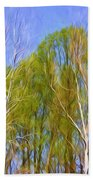 Springtime Trees Beach Towel