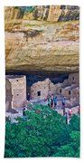 Spruce Tree House On Chapin Mesa In Mesa Verde National Park-colorado  Beach Towel