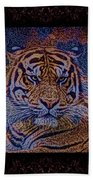 Sq Tiger Sat 6k X 6k Cranberry Wd2 Beach Towel