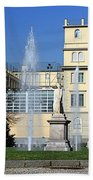 Square And Statues Beach Towel