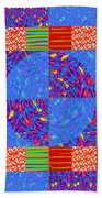 Squares Lines Dots Symbol Infinity Red Purple Blue Green Colorful Waves Unique Background Designs  A Beach Towel