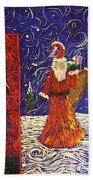 Squiggle Christmas Beach Towel