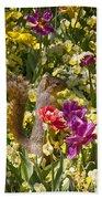 Squirrel In The Botanic Garden-dallas Arboretum V5 Beach Towel