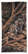 Squirrel-ly Beach Towel