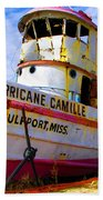 Ss Hurricane Camille Tugboat Beach Towel