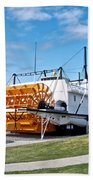 Ss Klondike Sternwheeler From Stern On The Yukon River In Whitehorse-yk Beach Towel