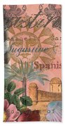 St. Augustine Florida Vintage Collage Beach Towel