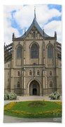 St Barbaras Cathedral Kutna Hora Czech Republic Beach Towel