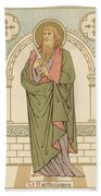 St Bartholomew Beach Towel by English School