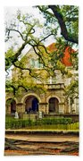 St. Charles Ave. Mansion Paint Beach Towel