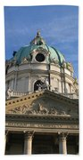 St Charles Church Vienna Austria Beach Towel