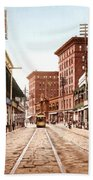 St Charles Street New Orleans 1900 Beach Towel by Unknown