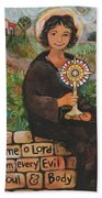 St. Clare Of Assisi Beach Towel