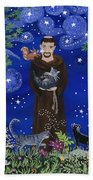 St. Francis And Spike Beach Towel