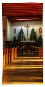 St Francis De Paula Mission Tularosa Beach Towel by Bob Christopher