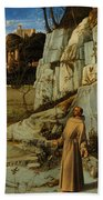 St Francis Of Assisi In The Desert Beach Towel