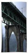 St Johns Bridge Oregon Beach Towel