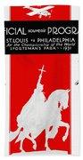 St. Louis Cardinals 1931 World Series Program Beach Towel