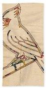 St Louis Cardinals Logo Art Beach Sheet