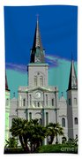 St Louis Cathedral 3 Beach Towel