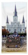 St Louis Cathedral Beach Towel