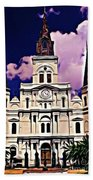 St Louis Cathedral In New Orleans Beach Towel