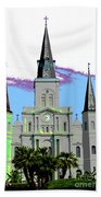 St Louis Cathedral Poster 2 Beach Towel