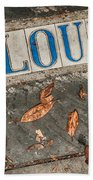 St Louis Street Tiles In New Orleans Beach Towel