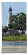St Marks Lighthouse Beach Towel