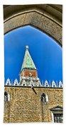 St Marks Tower - Venice Italy Beach Towel
