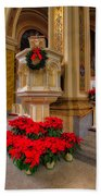 St. Mary Of The Angels Christmas Lectern Beach Towel