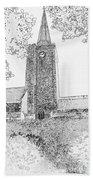 St Marys Church Tenby Beach Towel