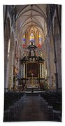 St Nicholas Church Ghent Beach Towel