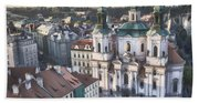 St Nicholas Prague Beach Towel